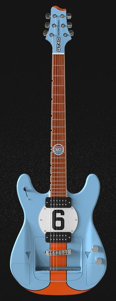A limited series guitar that is and actual GT40 matching the chassis number of the 1969 Le Mans winner.