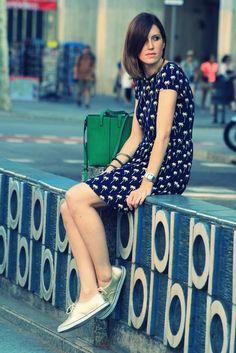 palm dress+sneakers