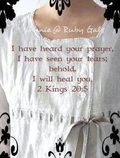2 Kings 20:5 Healing Scriptures, Healing Words, 2 Kings 20 5, Blessed Assurance, Prayer List, Christ The King, How He Loves Us, Bible Truth, Walk By Faith