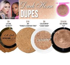 Jeffree star highlighter dupes in the shade Dark Horse // Kayy Dubb ♡