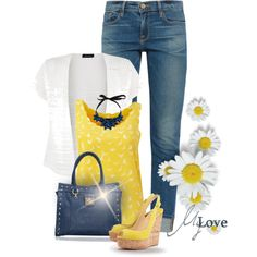 * Here Comes the Sun * by hrfost1210 on Polyvore featuring moda, AX Paris, Frame Denim, Christian Louboutin and Segolene Paris