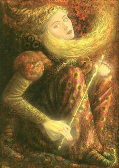 """HERNAN VALDOVINOS, """"HAMSA"""", (little fairy with wand)"""