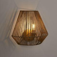 Yaku hemp wall lamp, h25cm , natural, La Redoute Interieurs | La Redoute Indoor Wall Lights, Ceiling Lights, Bedroom Wall, Decoration, Hemp, Lighting, Home Decor, Natural, Products