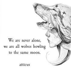 'Sharing the Moon' @atticuspoetry #atticuspoetry