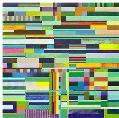 "Toss & Turn by Mark Emerson, 2014, polymer on canvas, 50 x 50""   Mark Emerson + Tom Leaver @ JayJay   Squarecylinder.com"