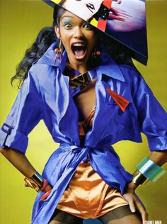 chanel iman, v magazine #fashion #editorial #color