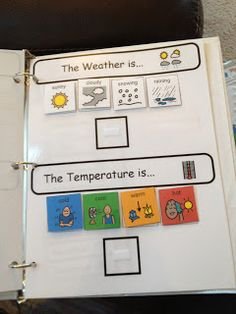 Autism Tank: Homework Binders--Would love to make some for circle time activities!