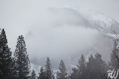 Half Dome and Late Fall Snowstorm, Yosemite National Park, California  #yosemite #nationalparks