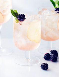 Blackberry Gin Cocktail Recipe with Cider Craft cider