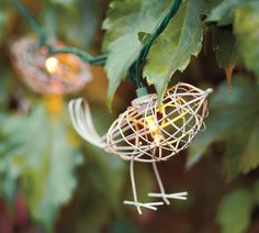 Bird-shaped string lights