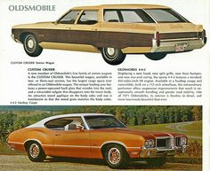 1971 Oldsmobiles: Custom Cruiser Station Wagon and 4-4-2 Hardtop