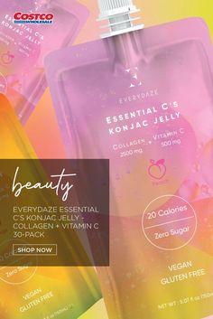 Everydaze Essential C's Konjac Jelly - Collagen + Vitamin C, 30-pack