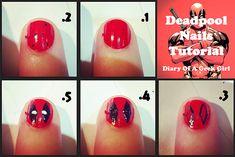 geekgirl | deadpool nails tutorial DIY