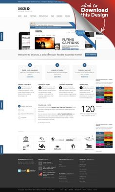Choices - Responsive Business and Portfolio bbpress, breadcrumb, business, clean, creative, design, forum, google fonts, multi language, photography, portfolio, responsive, seo, unlimited colors, wpml Update: new versionnow! Read more about the Changes at the bottom of the Page. Updating is highly recommended! Choices is a responsive WordPress Theme (try resizing your browser), suited for business websites and users who want to showcase thei...