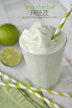 Lime Sherbet Freeze! This looks delicious!