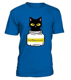 Chat Antidépresseur  #tshirtprinting #tshirtfashion #tshirtdesign #tshirtteespring