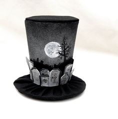 Tiny Top Hat: The Graveyard - Lolita Cosplay Costume Party Fascinator Photo Photography Prop Wedding Tophat Small Mini Miniature. $35.00, via Etsy.