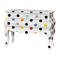 Two Drawer Chest Polka Dots