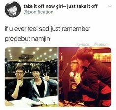 Namjin is undoubtedly the oldest and realest ship in BTS Namjin, Kookie Bts, Bts Bangtan Boy, Bts Predebut, Rapmon, Wattpad, Famous Meme, Steven Universe, Bts Memes Hilarious