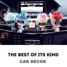 Floral Car Air Vent Decoration Brand new 2017 design. You can sprayperfume of your own favorite scent to the flower also. FEATURES  You can design and make your own air vent decoration with DIY clips.Here is an instruction onHow to DIY cool car vent decorations with your favorite scent.  Adopts back clips for air freshener DIY. Easy install and remove.
