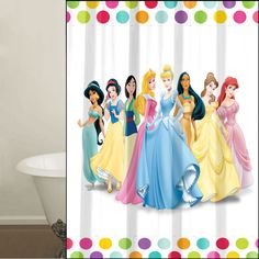 Princess Shower Curtain Kids Bedroom Curtains Net Blinds Shades Picture