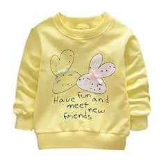 MiyaSudy Baby Boys Girls T-shirts Cute Cartoon Pattern Long Sleeve Tops Tee  for Autumn. Φθινοπωρινή ... 2274925ce9f