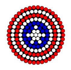 Captain America Shield Perler Bead Pattern | Bead Sprites | Misc Fuse Bead Patterns
