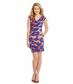 Jessica Simspon Ruched CheetahPrint Dress #Dillards