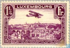 Stamps - Luxembourg - Airmail