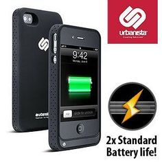 Apple iPhone 4S Las Vegas Slim Battery Case.  Extend your battery life without extending your phone's size.