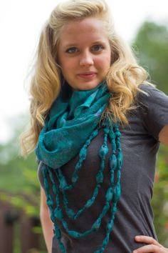 Eternal Beaded  Vintage Sari Scarf (from the Ocean Depths Palette) – Village Artisan
