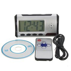 Hidden Camera Alarm Clock Micro Nanny Cam Motion Detection Mini DV DVR Video