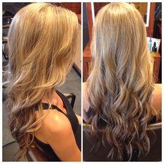 Partial foil of blended blonde hi-lights !