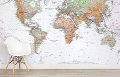 White and Natural Colour World Map Mural white-and-natural-colour-world-map-maps-room World Map Mural, World Map Wallpaper, Diy Wallpaper, Diy Tapete, The Wonderful Country, Color World Map, Poster Design, Latest Wallpapers, Natural Earth