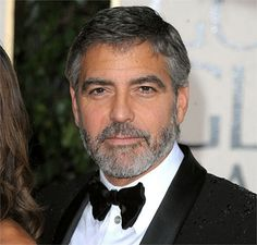 I hate George Clooney, but love the tight grey beard he has going on.