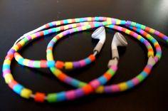 Perler og headphones