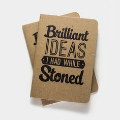 Brilliant Ideas I had While Stoned Notebooks - 2pk Notebook by Cool Material - Cool Material - 1
