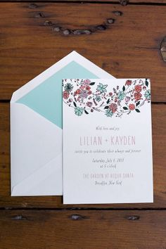 natural, earthy toned wedding stationery http://www.weddingchicks.com/2013/10/15/brooklyn-garden-wedding/