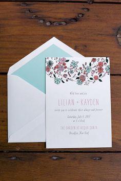 natural, earthy toned wedding stationery http://www.weddingchicks.com/2013/10/15/brooklyn-garden-wedding/