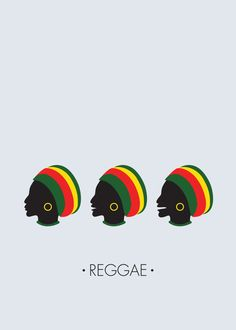 The Spelling of Reggae Poster by Violla Laurencia, via Behance