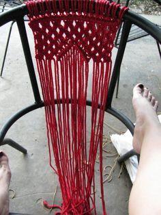 How to make a chair. Macramé Chair - Step 2