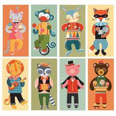 Mix and Match-Animal Jamboree, petit collage