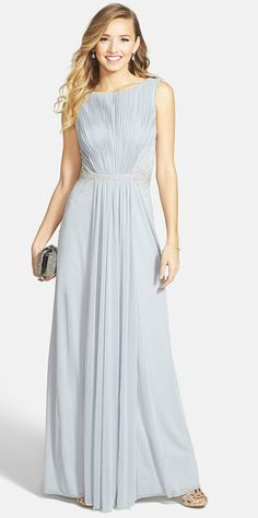 Silver pleated gown
