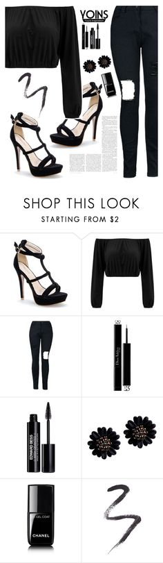 """YOINS #14"" by buflie ❤ liked on Polyvore featuring Christian Dior, Edward Bess, Chanel, Topshop, yoins, yoinscollection and loveyoins"
