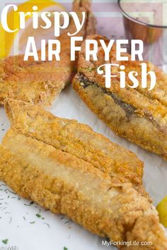 This Crispy Air Fryer Fish Recipe is delicious and healthy. Tried and true metho… This Crispy Air Fryer Fish Recipe is delicious and healthy. Tried and true method for golden and crispy fish filets in the air fryer. Air Fryer Fish Recipes, Air Frier Recipes, Air Fryer Dinner Recipes, Fried Fish Recipes, Seafood Recipes, Cooking Recipes, Fish In Air Fryer, Fish Recipe For Air Fryer, Recipes For Airfryer