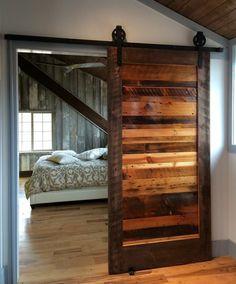 woodworking projects: DIY:: Sliding Barn Door Hardware- Easier than you. Wood Barn Door, Wooden Barn, Barnwood Doors, Farm Door, Wooden Room, Metal Barn, Wooden House, The Doors, Front Doors