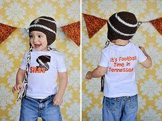 Boys UT VOLS Tennessee Spirit Football Shirt by SweetDesignsBtque, $18.00