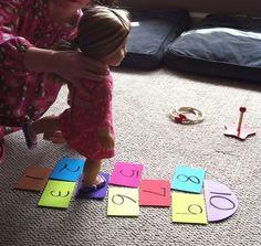 American Girl DIY Hopscotch game