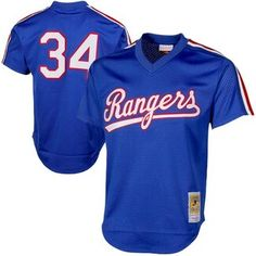e702337c0 Mitchell & Ness Nolan Ryan Texas Rangers Royal 1989 Authentic Cooperstown  Collection Mesh Batting Practice Jersey