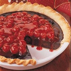 Black Forest Pie - I love cherry pie, and what way to make it better than to add chocolate!